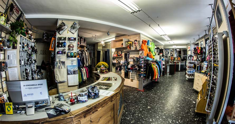 View of the Genzianella Sport shop interiors